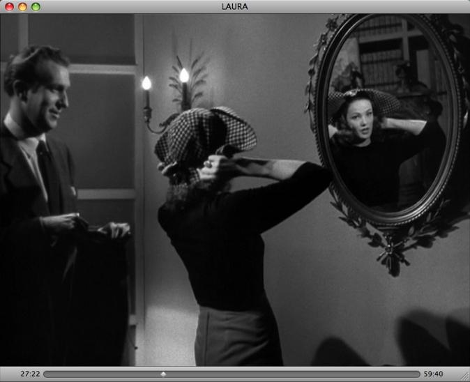 Novak kim cran captif for Reflet dans le miroir